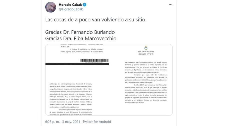 Bozal legal Horacio Cabak