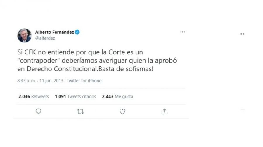 Tuit Fernández Corte Suprema
