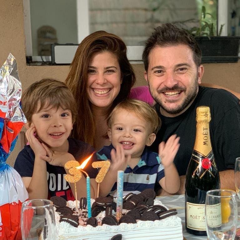 Diego Brancatelli, Cecilia Insigna, Valentín y Luca Brancatelli 0505