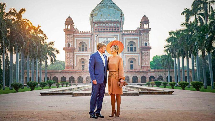Guillermo Alejandro y Máxima en India