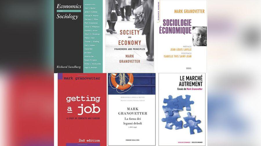 Economía y sociología. La obra de Mark Granovetter fue traducida a muchos idiomas. La cuestión del trabajo y las redes sociales es el eje de su investigación.