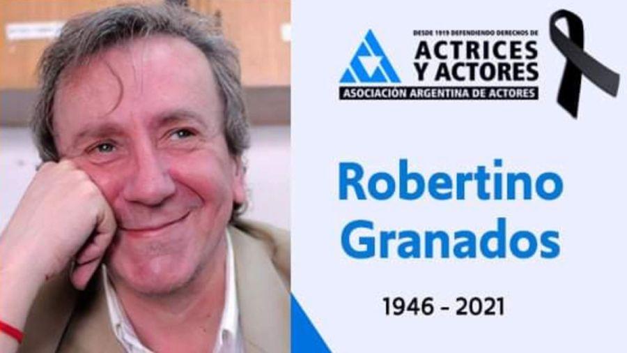 Falleció Robertino Granados, un actor referente del circuito underground