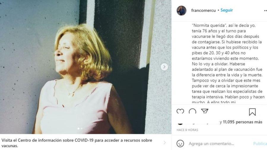 Furia Franco Mercuriali por la muerte de su suegra