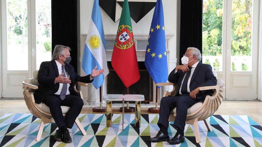 Alberto Fernández con Marcelo Rebelo de Sousa