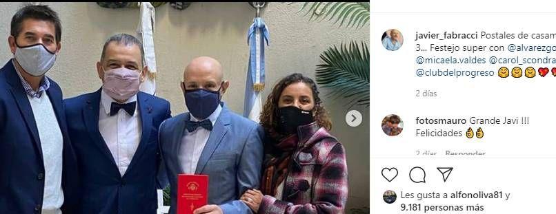 Se casó el periodista Javier Fabracci tras 15 años de relación