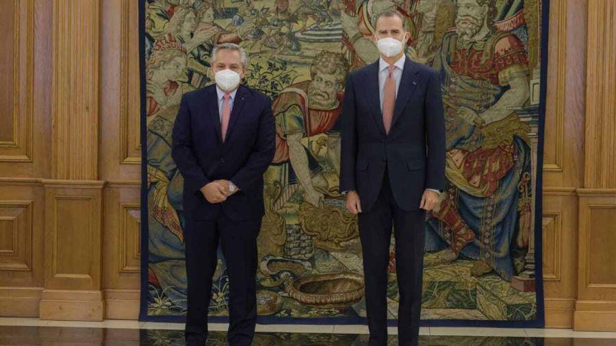 Alberto Fernández se reunió con el Rey Felipe VI de España 20210511
