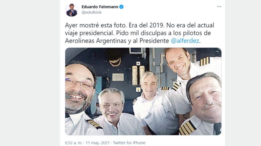 Eduardo Feinmann tuit fake news 1105