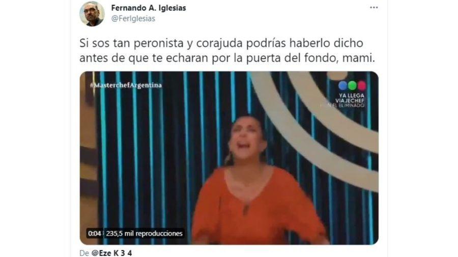Fernando Iglesias contra Andrea Rincon