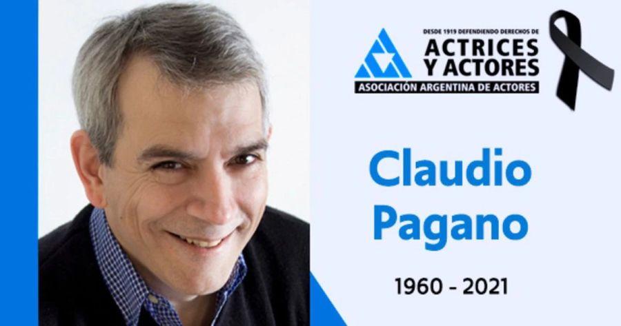 """Murió Claudio Pagano, actor de producciones como """"Los simuladores"""", """"Soy gitano"""" y """"Violetta"""""""