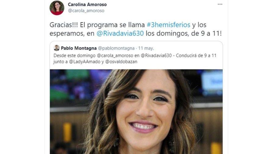 Carolina Amoroso a Radio Rivadavia
