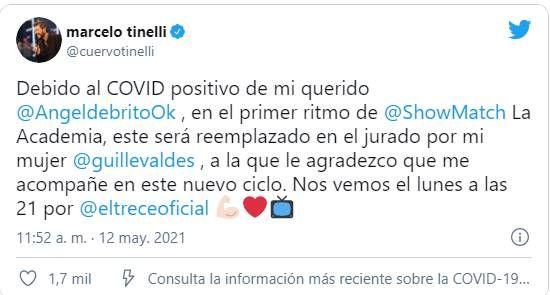 Marcelo Tinelli eligió el reemplazo para Ángel de Brito en La Academia