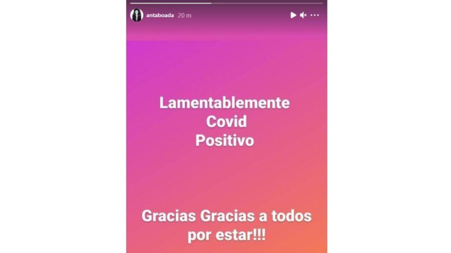 Andrea Taboada positivo covid
