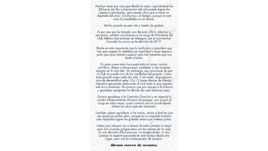 Carta Tinelli