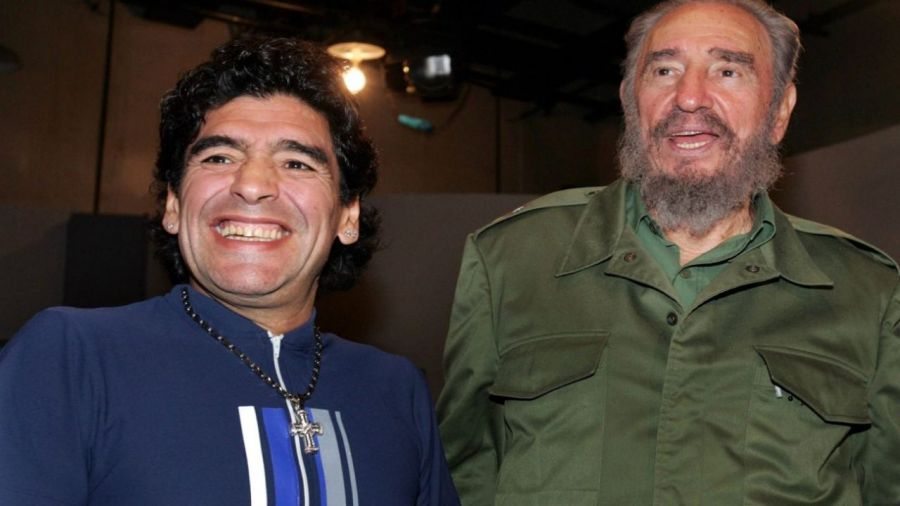 Diego Maradona y Fidel Castro