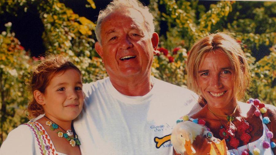 Con su mujer Mariana y su hija Olivia