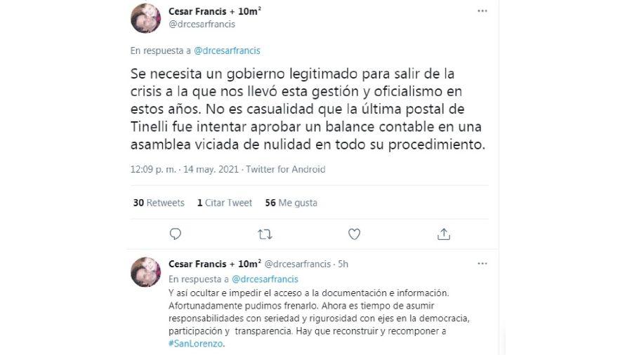 Tuit César Francis