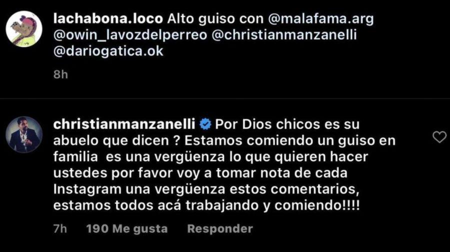 Defensa Christian Manzanelli a Hernan Coronel Mala Fama