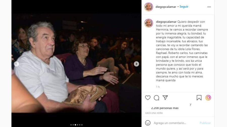 Muerte madre Diego Perez