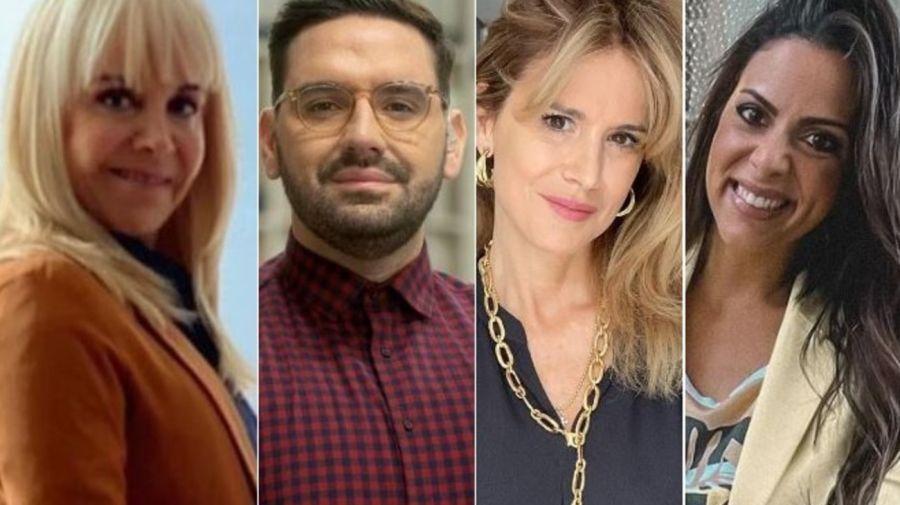 Claudia Villafañe, Damian Betular, Flavia Palmiero y Beliu Lucius
