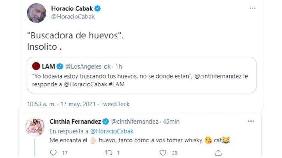 Horacio Cabak contra Cinthia Fernandez