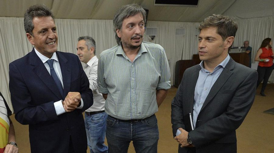 Sergio Massa Axel Kicillof Máximo Kirchner 20210517
