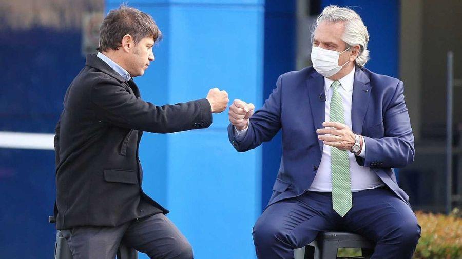 Alberto Fernández con el gobernador Axel Kicillof