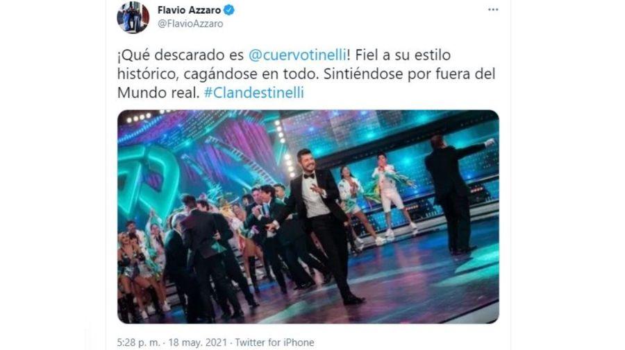 Flavio Azzaro contra Marcelo Tinelli