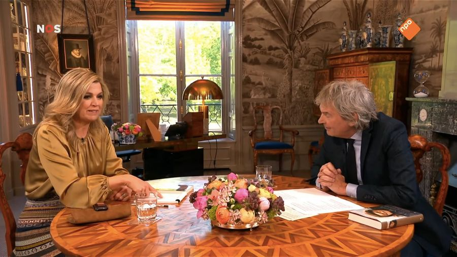 Reina Máxima de Holanda, durante la entrevista.