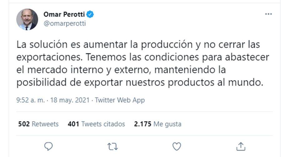 twitter de Perotti 20210518