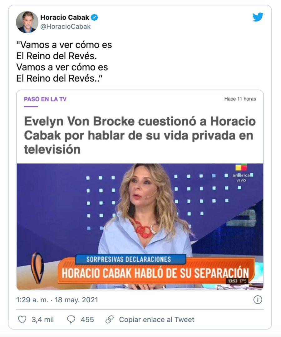 El tweet de Horacio Cabak
