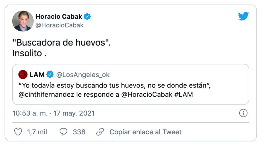 Horacio Cabak responde sin filtro a Cinthia Fernández tras el feroz cruce