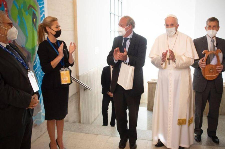 FOTOS| Así fue el nuevo encuentro de Fabiola Yáñez con el Papa Francisco