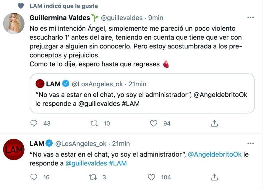 Guillermina Valdés, muy dura con Ángel de Brito: