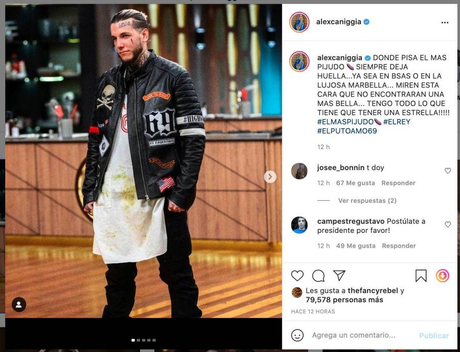 Ángel de Brito anunció que Alex Caniggia renunció a MasterChef Celebrity 2