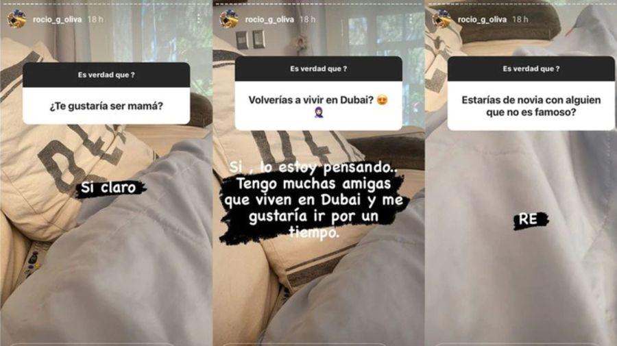 Rocío Oliva historias 2505