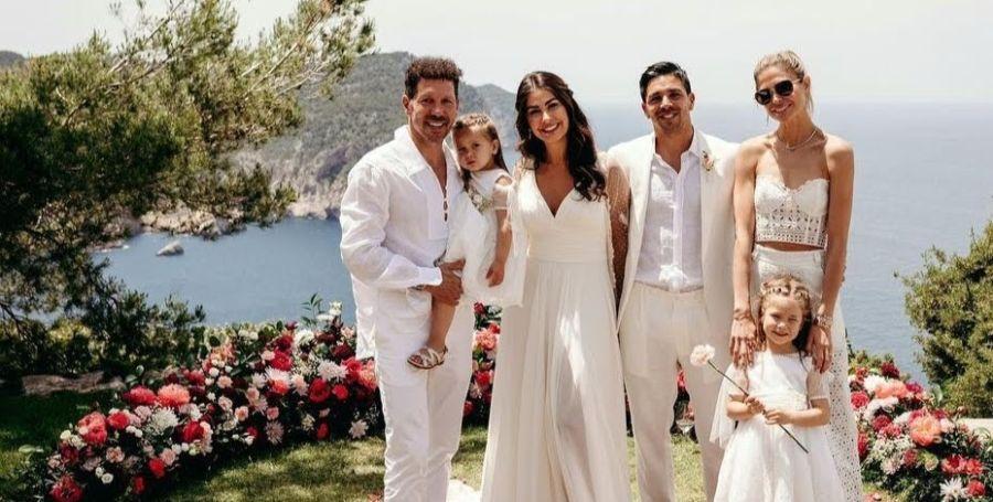 Así fue la lujosa boda de Gio, el hijo mayor del Cholo Simeone