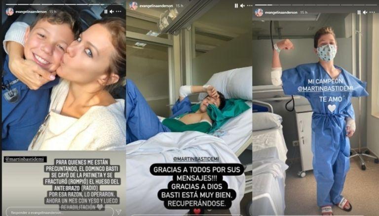 Evangelina Anderson tras el accidente de su hijo: