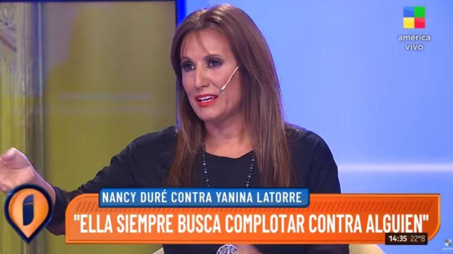 Nancy Dure contra Yanina Latorre