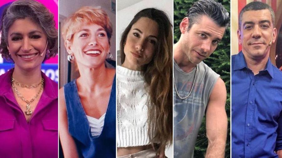 Carla Conte, Rochi Igarzabal, Magui Bravi, Rodrigo Cascón y Walter Queijeiro