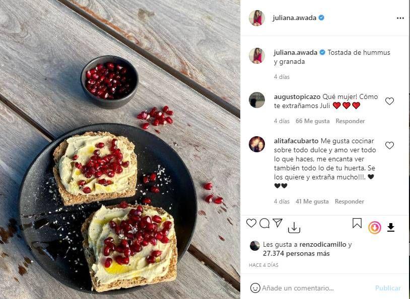 Juliana Awada: Dos formas de comer tostadas