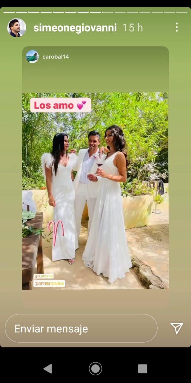 La emoción de Carolina Baldini en la boda de su hijo Gio Simeone: