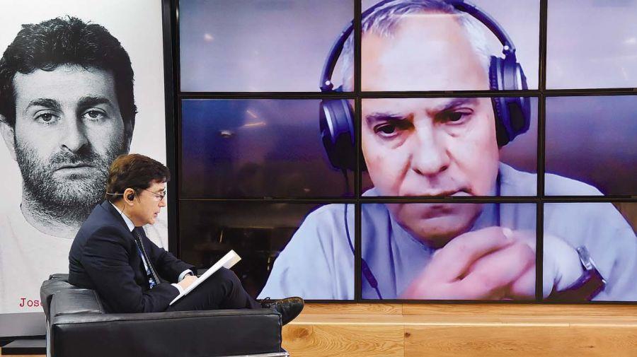 Pablo D'Ors, en la entrevista con Jorge Fontevecchia.