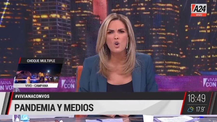 Viviana Canosa enojada