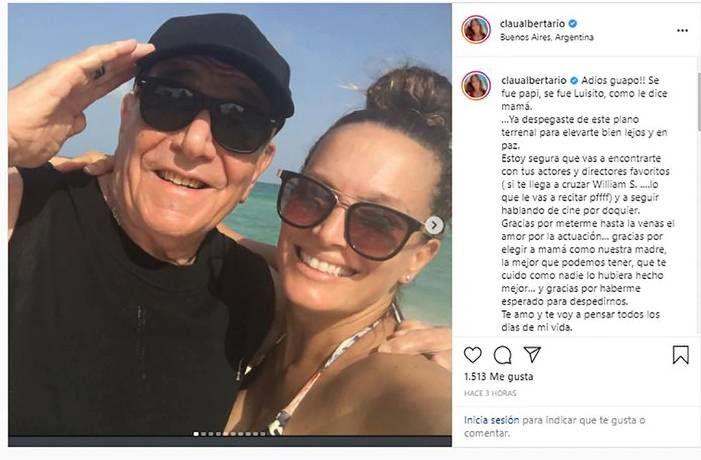 Falleció el papá de Claudia Albertario: el conmovedor mensaje en las redes
