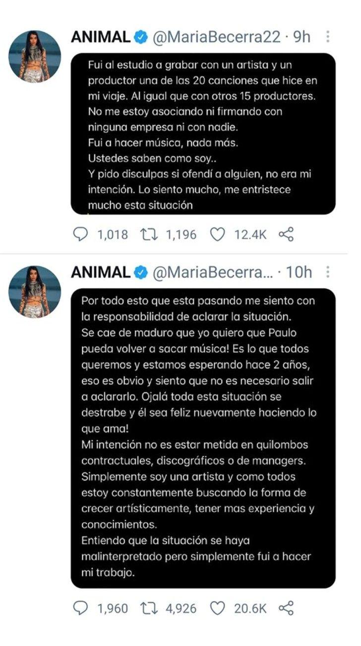 Escándalo: qué pasó entre María Becerra y Paulo Londra