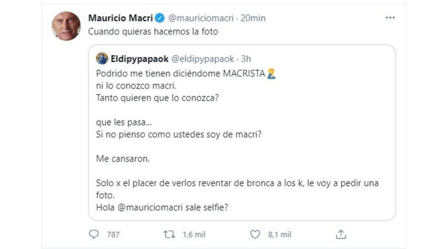 Mensaje Mauricio Macri a El Dipy