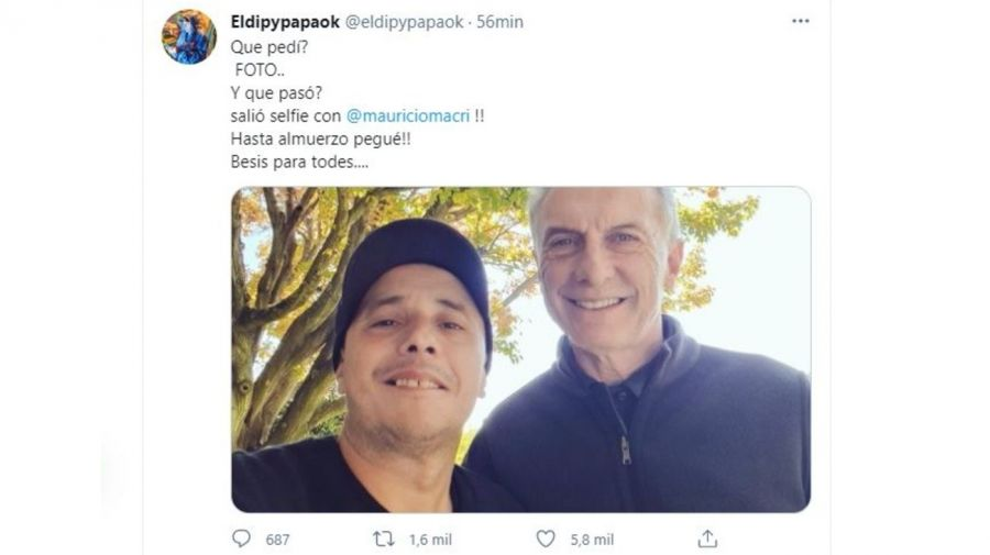 El Dipy y Mauricio Macri
