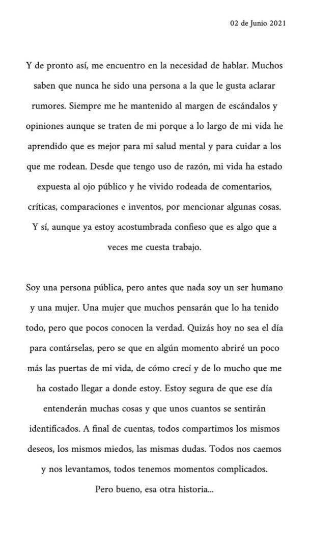El dolor de Michelle Salas, la hija de Luis Miguel, y la carta abierta a su papá