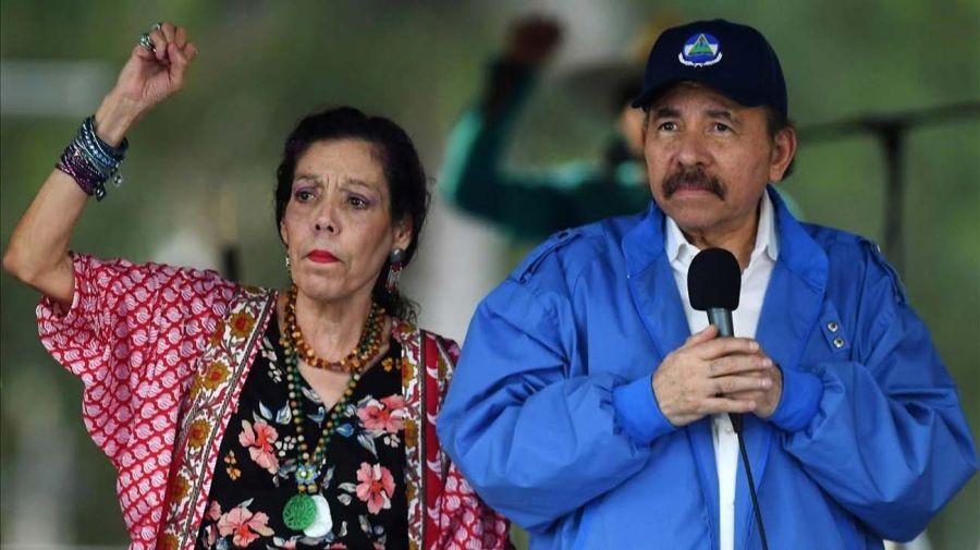 el presidente de Nicaragua, Daniel Ortega, junto a la vicepresidenta, Rosario Murillo 20210603