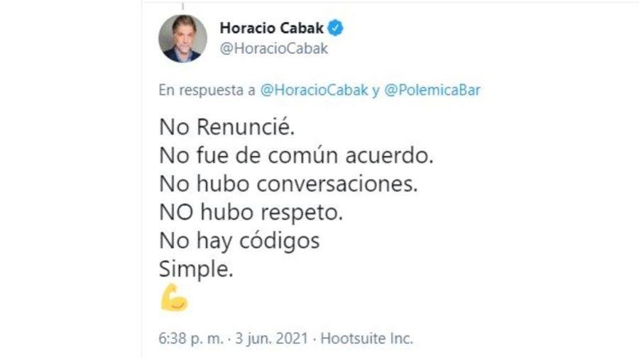 Horacio Cabak contra Polemica en el Bar